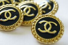VINTAGE CHANEL BUTTONS metal cc  20 mm 0,8 inch 💔💔💔 price for 4 pcs