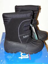 NEW Totes Little Boys Winter Boots Sz 9 Travis Black Waterproof Toddler Zipper