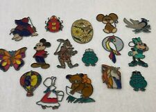 Vintage Sun Catcher Lot Metal Frame Mickey Mouse Butterfly Frog Minnie Mouse