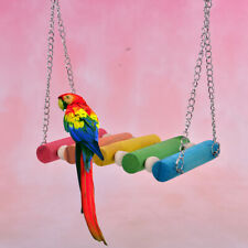 New listing Bird Hanging Swing Toys Wood Parrot Parakeet Perches Finches Pets Accessori Tbo