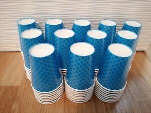 Job lot Blue paper cups with stars x56