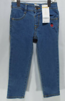 Gymboree Girls Elastic Waist Denim Jeans With Embroidered Ladybug NEW - 1A