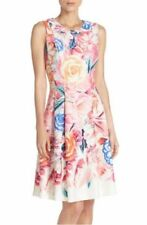 Eliza J Floral Printed Scuba Fit & Flare Dress.SZ:6