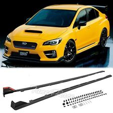 For 15-Up Subaru WRX STI Side Skirt JDM Rocker Panels Extension Kit Impreza ADN