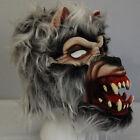 WOLF Vampire GREY Hair Latex Halloween ADULT Mask Costume Scary NEW WEREWOLF