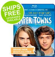 Paper Towns (Blu-ray + DVD + Digital, 2015) NEW, Nat Wolff, Cara Delevingne