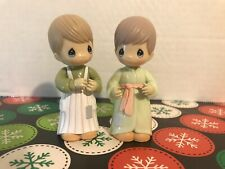 2 Precious Moments Pvc Boy And Girl Movable Figurines