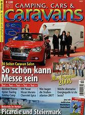 Camping Cars Caravans 10/06 2006 Bürstner Premio 480 TK Troll GT 554 Murano 3,5