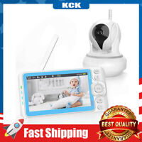 Baby Monitor with Camera and Audio 720P Video with 5 Inches Display Two-Way Talk