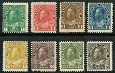 1911 Canada SG196-215 Set of 8 1/2c to 50c Good to Fine M/M Cat. £275.00