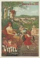Carte postale Affiche Trains Cie de l'Est Vittel lot 23541