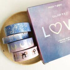 NIP Simply Gilded Washi Tape Galaxy 9.0 Love Set