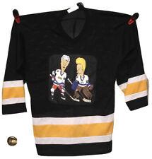 VTG 1996 Beavis & Butthead Shirt Hockey Jersey MTV Mike Judge 90s Cartoon Rap