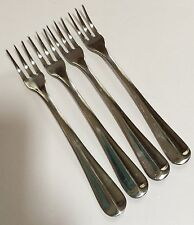 4 Farberware Brookfield Seafood Cocktail Forks Stainless Flatware Indonesia