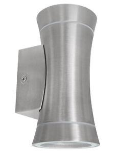 Modern Stainless Steel Up Down Wall Light GU10 IP44 Double Outdoor Garden ZLC318