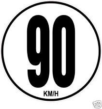1 Limitation de Vitesse Autocars Tracteur Poids lourd 90KM/H adhésifs