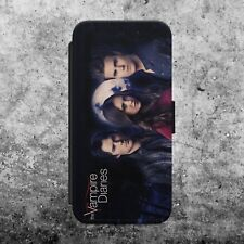 THE VAMPIRE DIARIES MAIN CHARACTERS FLIP WALLET PHONE CASE COVER iPhone SAMSUNG