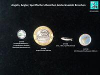 Angeln, Angler, Sportfischer Abzeichen Anstecknadeln Broschen AUSSUCHEN