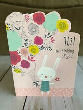 Bunny Thinking Of You Hallmark Card Easter Or Any day Blank Inside New Free Ship