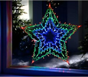 Large Christmas 100 LED Star Silhouette Indoor Outdoor Xmas Decoration Lights UK