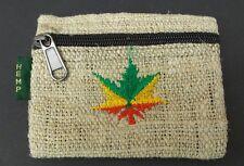Hemp Coin Purse Pot Leaf Natural Bag Pouch Credit Card ID Holder Wallet New