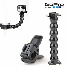 Gopro Hero 4 3+ 3 2 1 Camera Accessories Jaws Flex Clamp Mount + Adjustable Neck