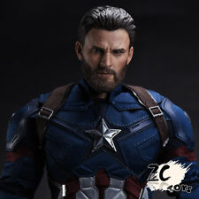 ZC TOYS 1:6 Scale Captain America Chris Evans Head Sculpt F 12'' Male Body