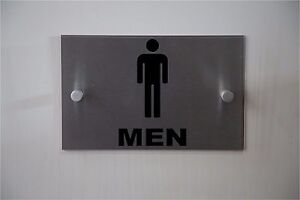 "Modern ""MEN"" Restroom or Fitting Room SIGN **Aluminum & Acrylic**Indoor/Outdoor"