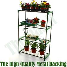 4 Tier Metal Greenhouse Shelving Racking Staging Plant Flower Home Display UK
