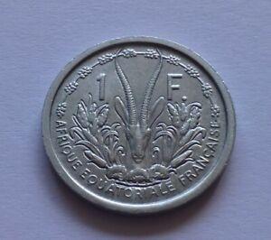 French Equatorial Africa 1 Franc 1948, Loder's gazelle