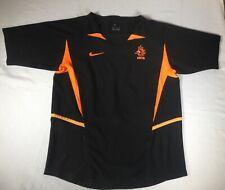Netherlands Holland 2002 03 NIKE Black Soccer Jersey Football Shirt Youth Medium
