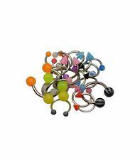 20 Horseshoe Jewelry Barbells Acrylic & Surgical Steel 14 & 16 Gauge