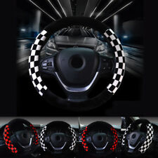 Car Truck Steering Wheel Cover White Red Auto Car Cool Universal Fit