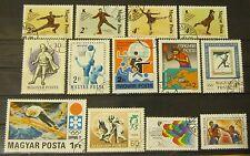 Ungarn 1959 bis 1989 schönes Lot Olympische Spiele, Eiskunstlaufen, ...