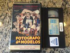 FOTOGRAFO DE MODELOS RARE BIG BOX VHS 1990 SPANISH SEXY SLEAZE COMEDY CESAR BONO