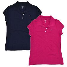Tommy Hilfiger Girls Polo Shirt Kids Mesh M Xl Short Sleeve Flag Logo Collared