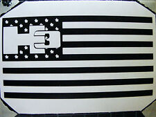 """H3  """"HUMMER"""" Flag  Decal Sticker"""