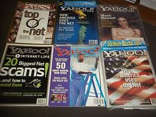 1990S-2000S YAHOO INTERNET LIFE MAGAZINE LOT OF 18 - INCLUDES AOL CDS - O 2096