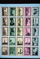Toronto Canada 1930's Stamp Label Sheet XF OG NH