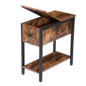 HOOBRO Side Table Flip Top End Table Sofa Table Narrow Nightstand Bedside Table
