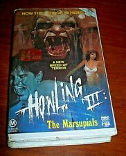 Vintage Howling III -The Marsupials -  Thriller VHS Tape - Deceased Estate