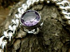 PIANEGONDA RING HUGE AMETHYST STERLING ITALY RARE HEAVY SOLD OUT SZ 6-6.5