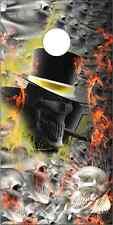 Smoking Skull Pile Skully Cornhole Wrap Bag Toss Skin Decal Sticker Wraps