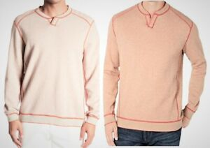Tommy Bahama Men's Reversible Flip Side Abaco Pullover, Sun Coral 2XLT