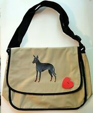 Manchester Terrier Dog Hand Painted Messenger Bag name free! Book Bag