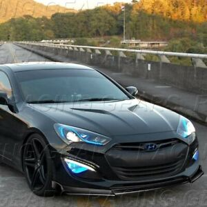 FIT 2013-2016 HYUNDAI GENESIS COUPE KS-STYLE PAINTED BLACK FRONT BUMPER LIP KIT