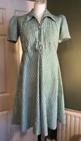 Wonderful Vintage Handmade French Cotton 1940s 1950s Summer Dress 8 10 S