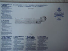Plan original Hotel Disney Newport Bay Club - 3 GH - DISNEYLAND Paris NEUF