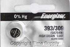 1 pcs 393 / 309 Energizer Watch Batteries SR754W SR754 0%HG