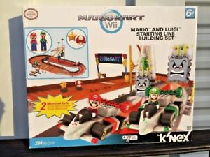 K'NEX Bowsers Castle Mario and Luigi at The Starting Line Building Set USED ❤️j8